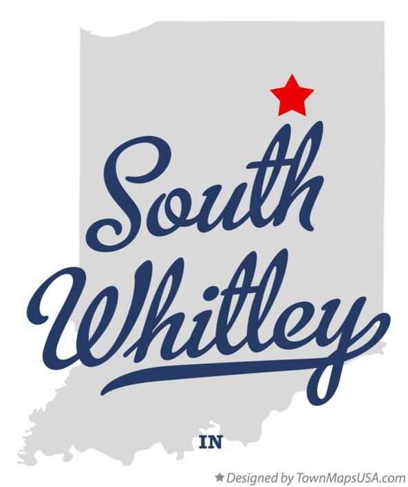 Map of South Whitley Indiana IN