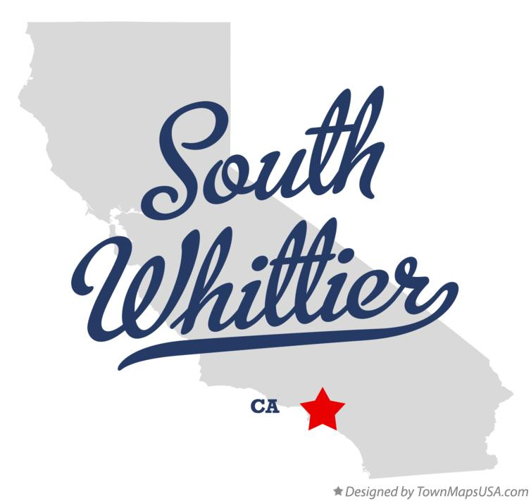 Map of South Whittier California CA