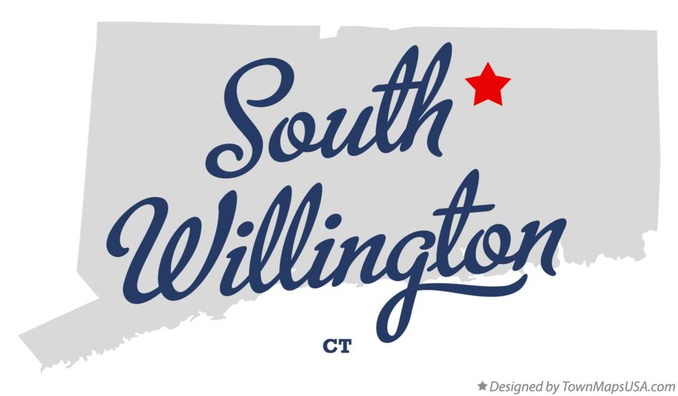 Map of South Willington Connecticut CT
