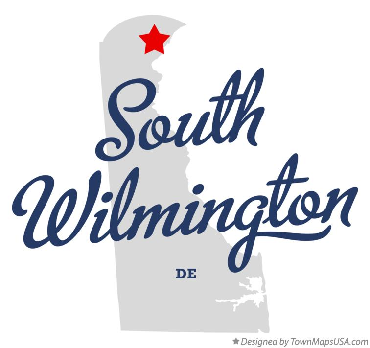 Map of South Wilmington Delaware DE