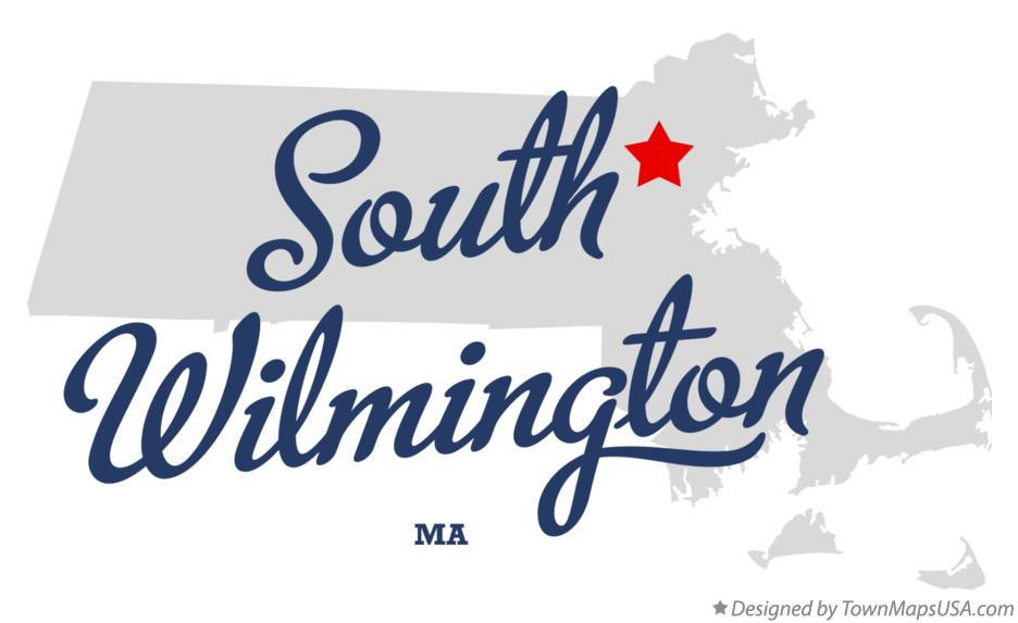 Map of South Wilmington Massachusetts MA