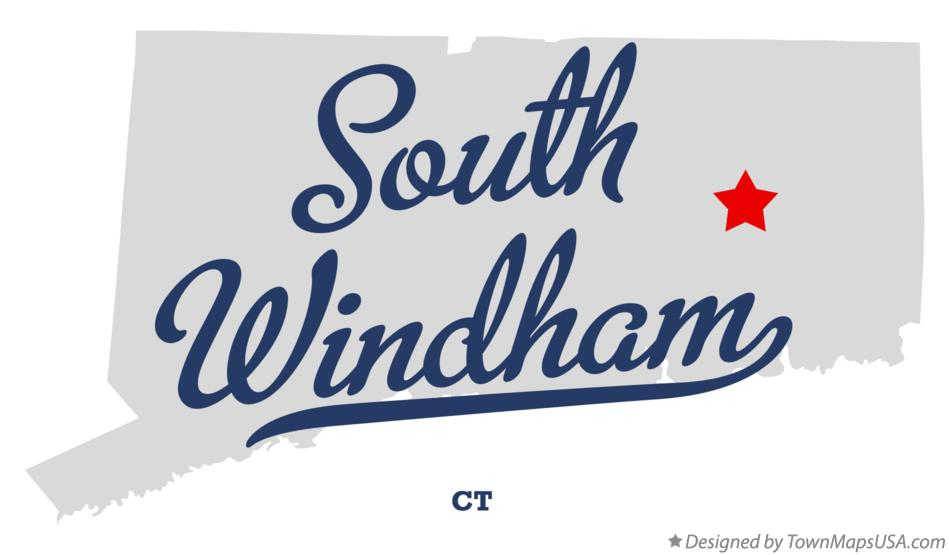 Map of South Windham Connecticut CT