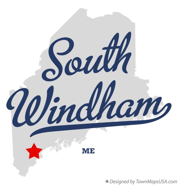 Map of South Windham Maine ME