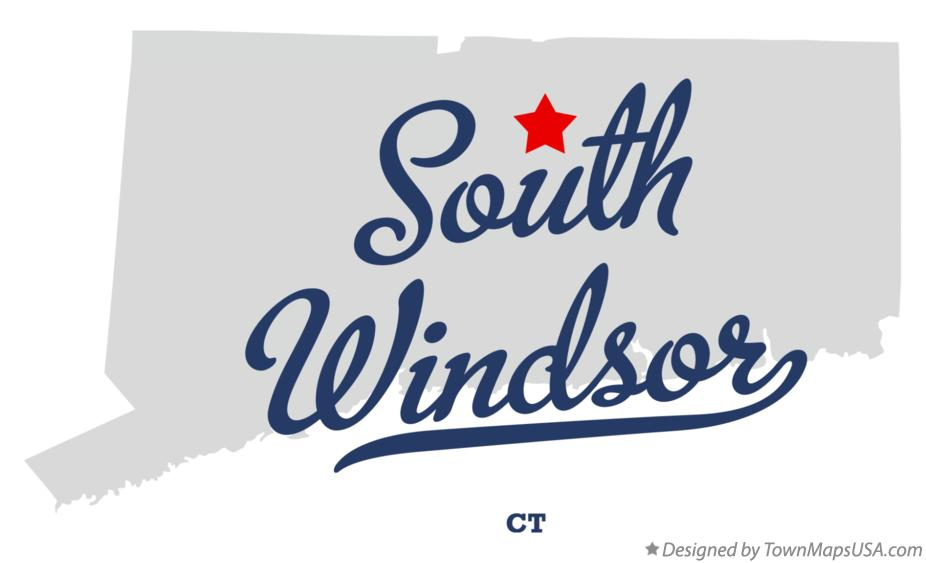 Map of South Windsor Connecticut CT