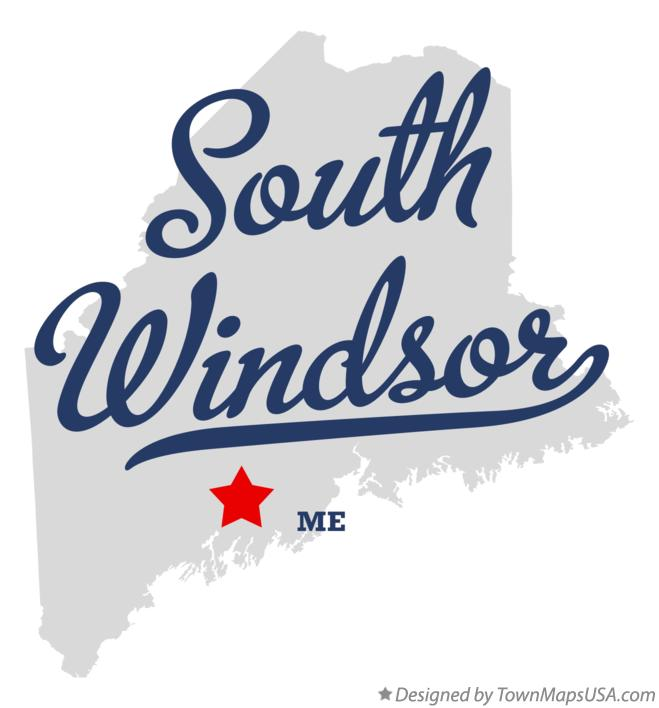 Map of South Windsor Maine ME