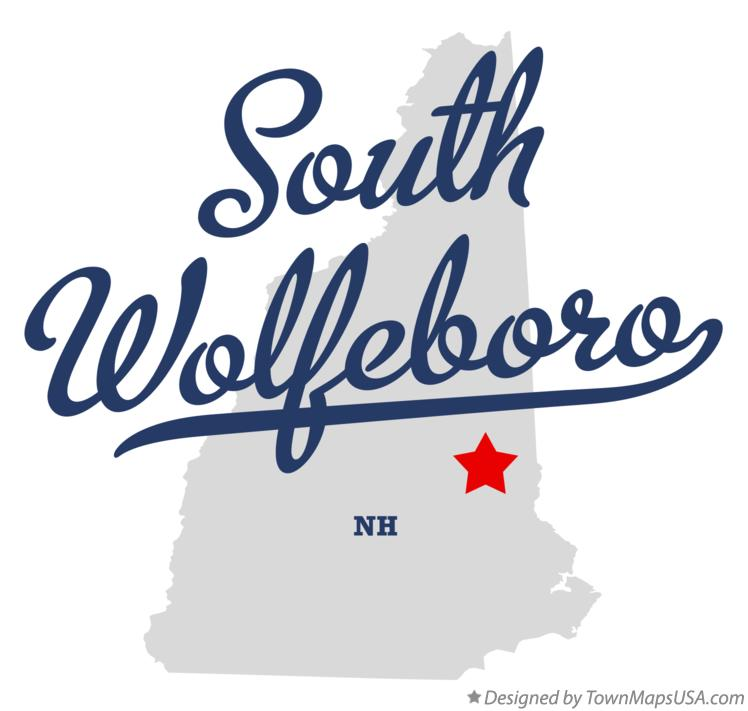Map of South Wolfeboro New Hampshire NH