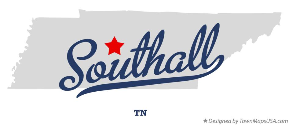Map of Southall Tennessee TN