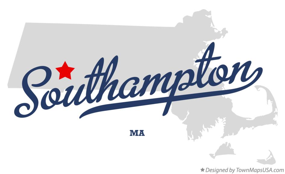 Map of Southampton Massachusetts MA