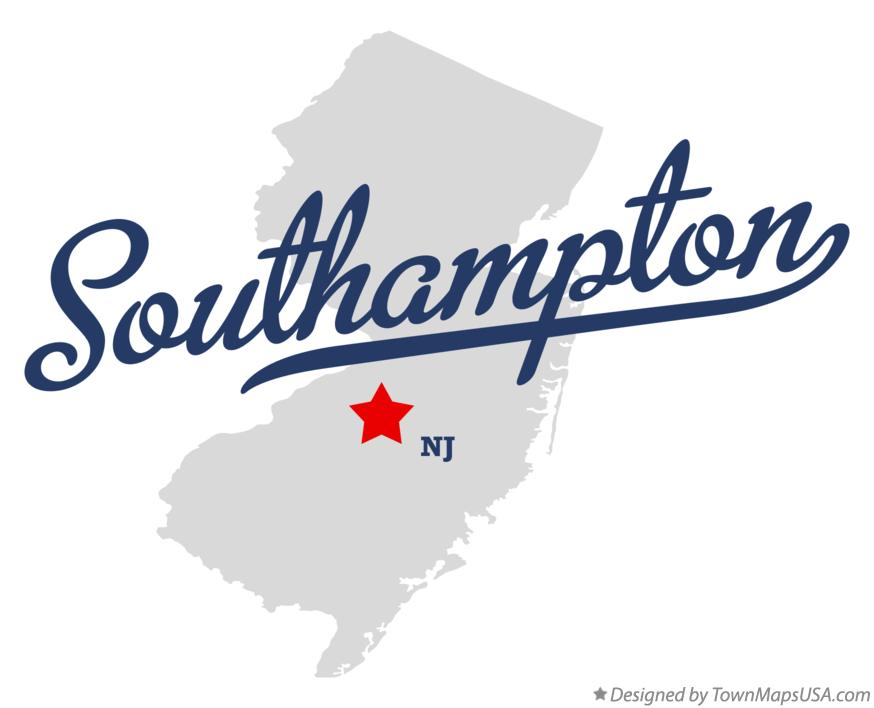 Map of Southampton New Jersey NJ
