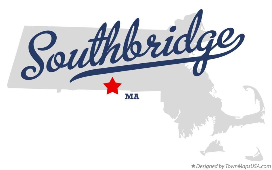 Map of Southbridge Massachusetts MA