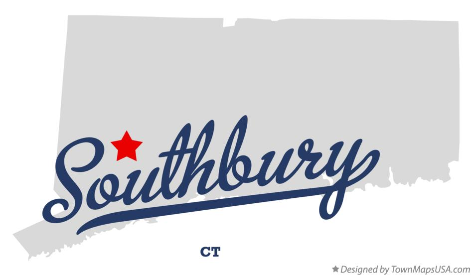 Map of Southbury Connecticut CT