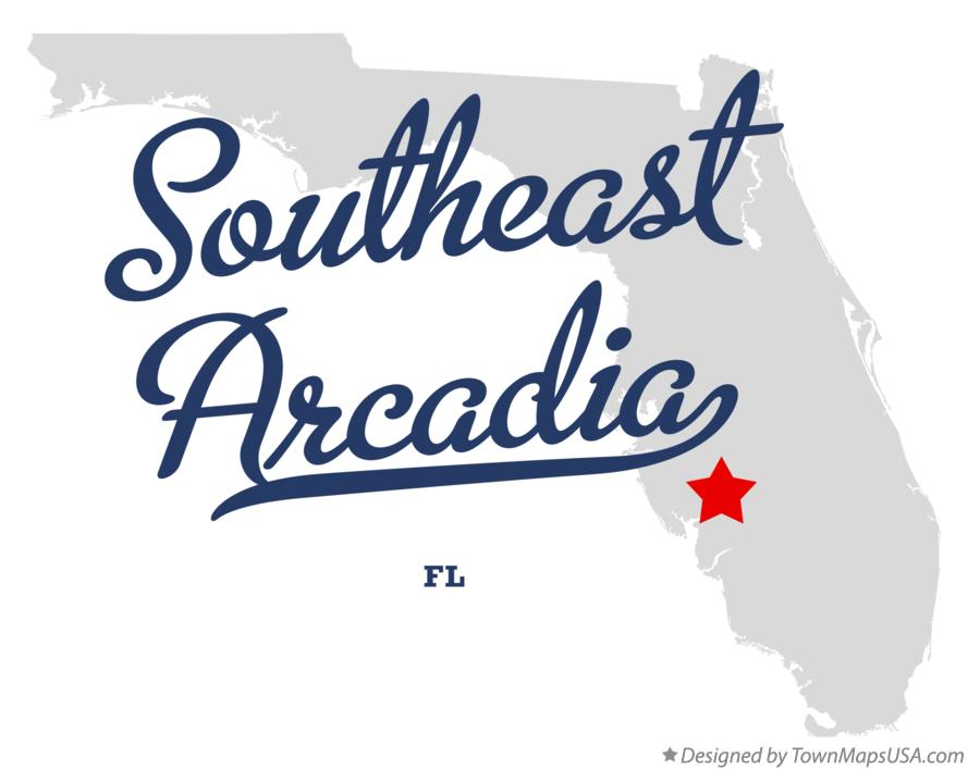 Arcadia Florida Map.Map Of Southeast Arcadia Fl Florida