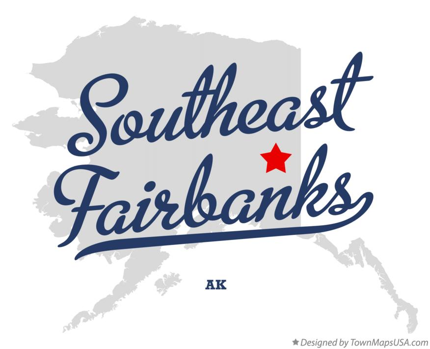 Map of Southeast Fairbanks Alaska AK