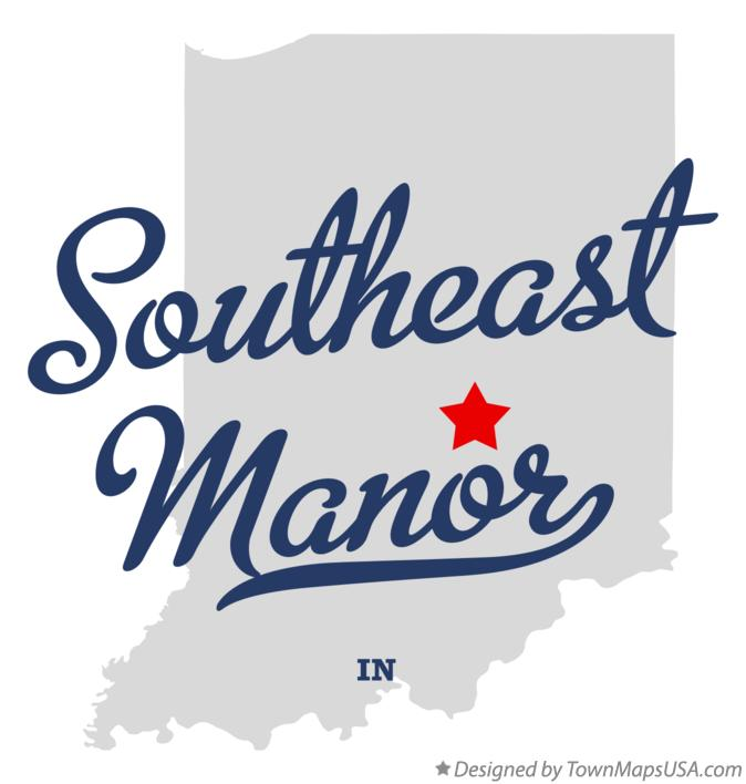 Map of Southeast Manor Indiana IN