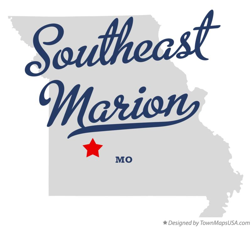 Map of Southeast Marion Missouri MO