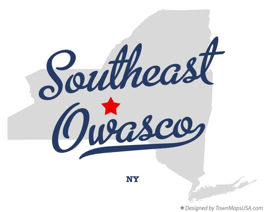 Map of Southeast Owasco New York NY