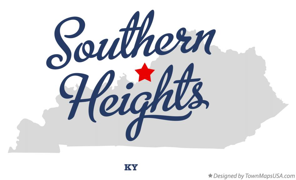 Map of Southern Heights Kentucky KY