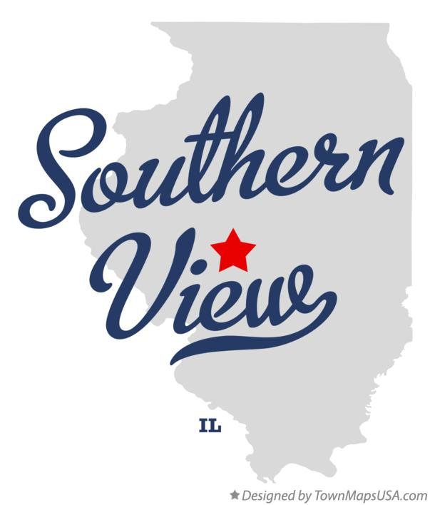 Map of Southern View Illinois IL