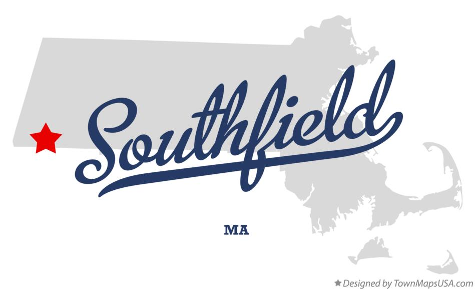 Map of Southfield Berkshire County MA Massachusetts