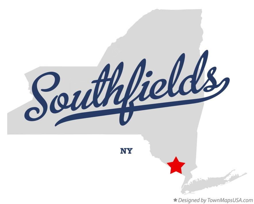 Map of Southfields New York NY