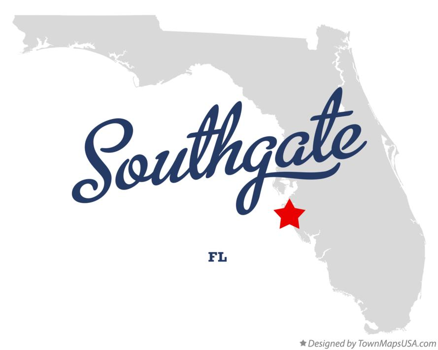 Map of Southgate Florida FL