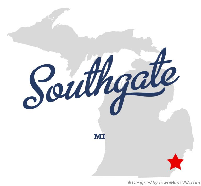 Map Of Southgate Mi Michigan