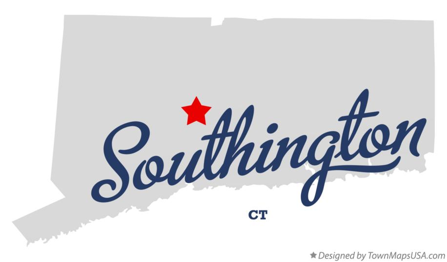 Map of Southington Connecticut CT