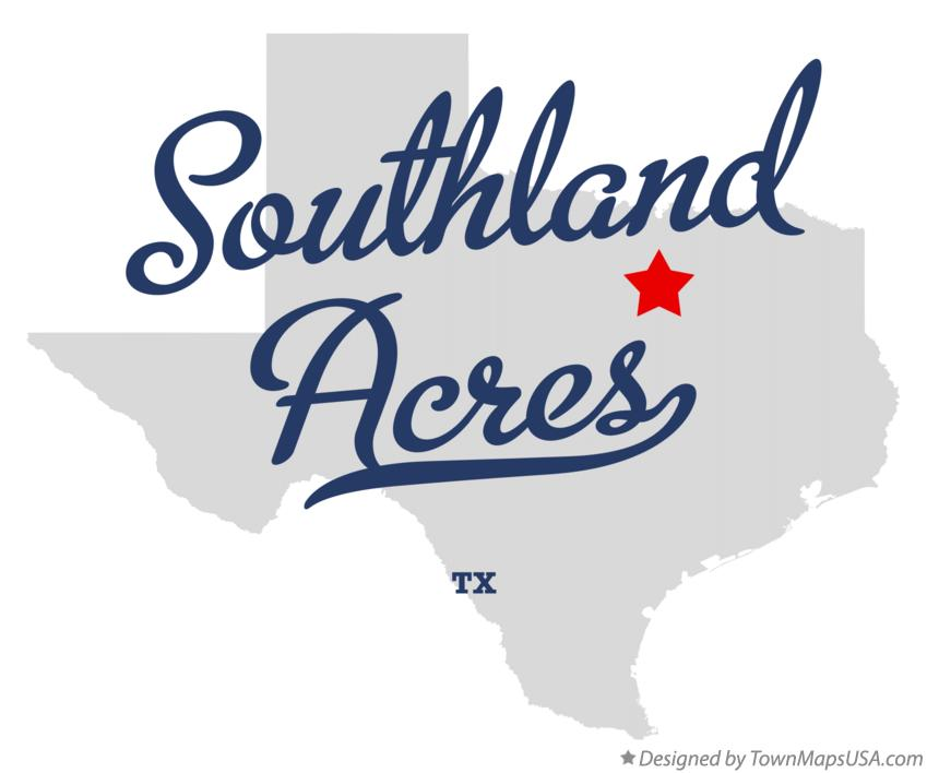 Map of Southland Acres Texas TX