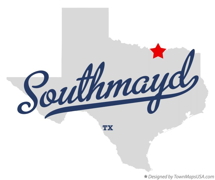 Map of Southmayd Texas TX
