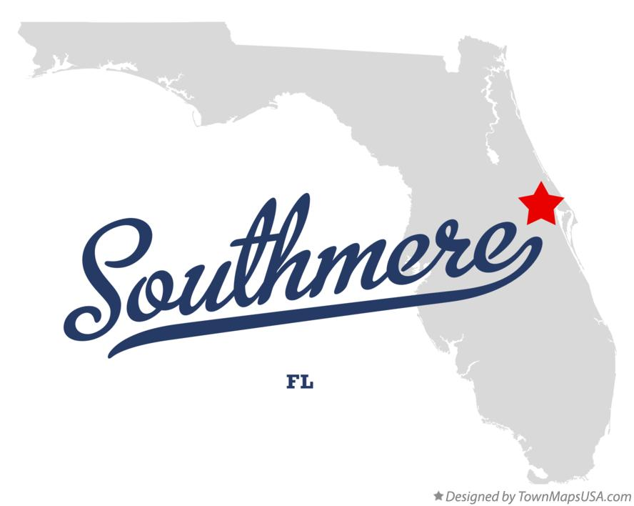 Map of Southmere Florida FL