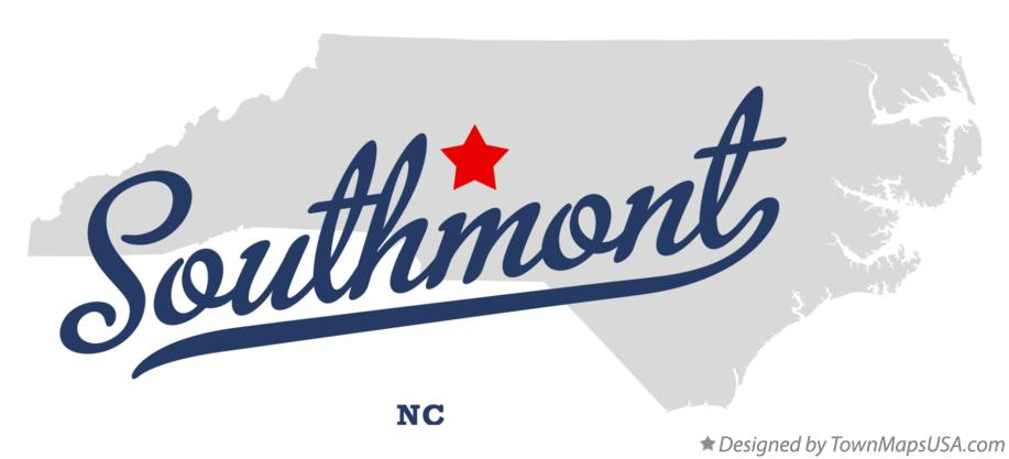 Map of Southmont North Carolina NC