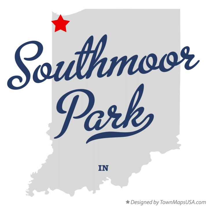 Map of Southmoor Park Indiana IN