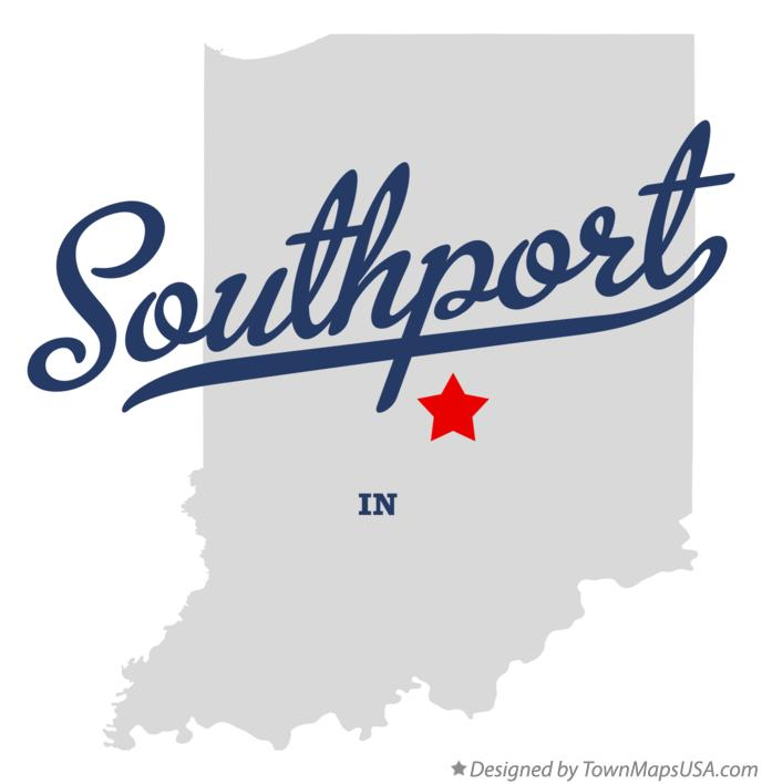 Map of Southport Indiana IN