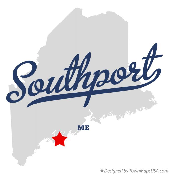Map of Southport Maine ME