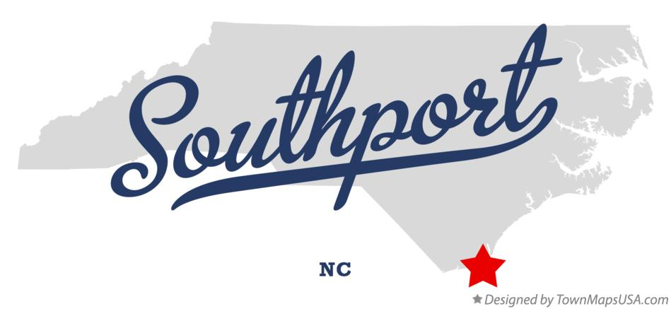 Map of Southport North Carolina NC