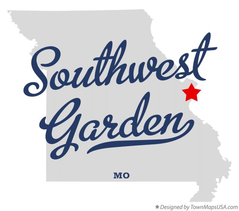 Map of Southwest Garden Missouri MO
