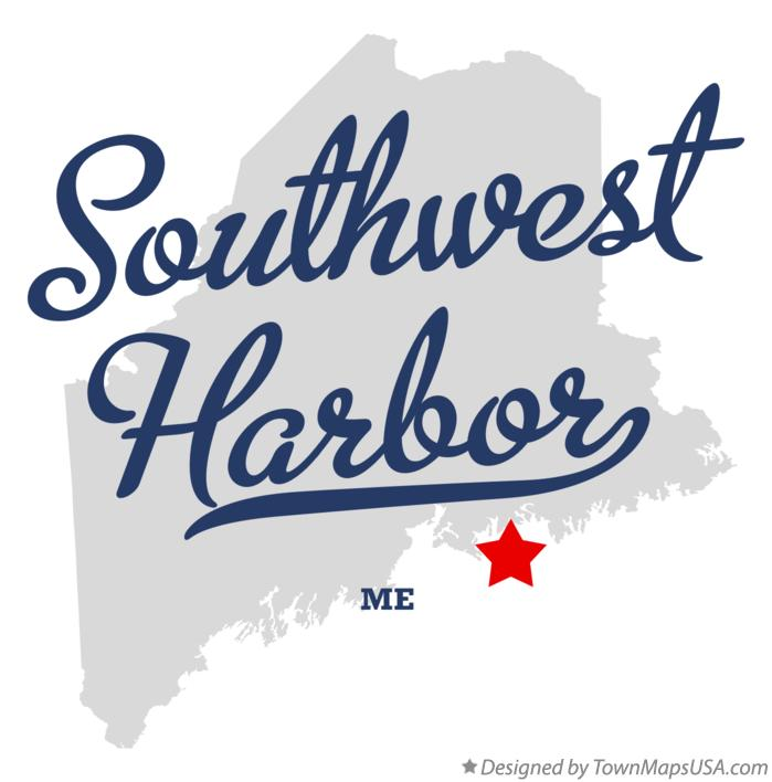 Map of Southwest Harbor Maine ME