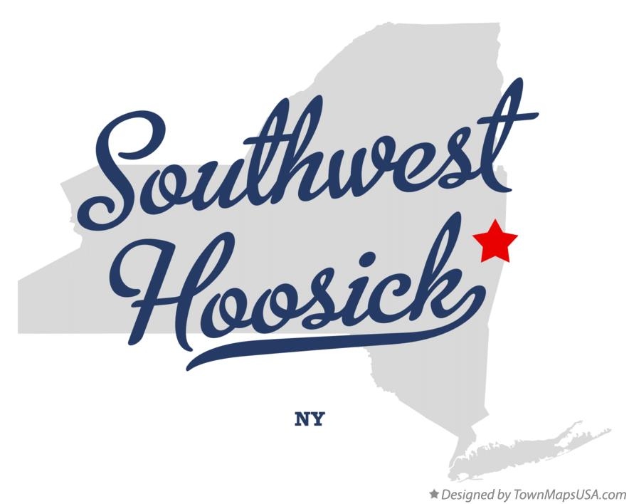 Map of Southwest Hoosick New York NY