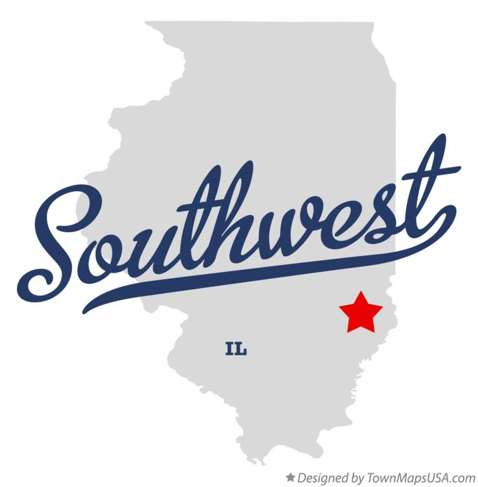 Map of Southwest Illinois IL