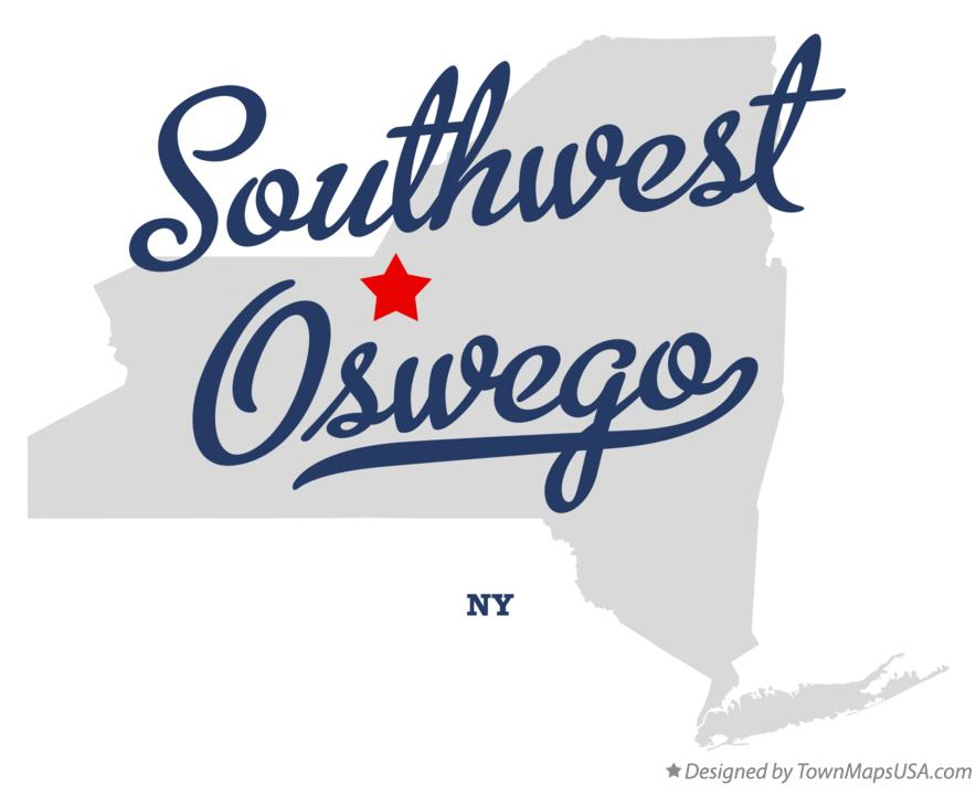 Map of Southwest Oswego New York NY