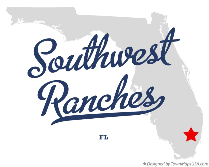 Map of Southwest Ranches Florida FL