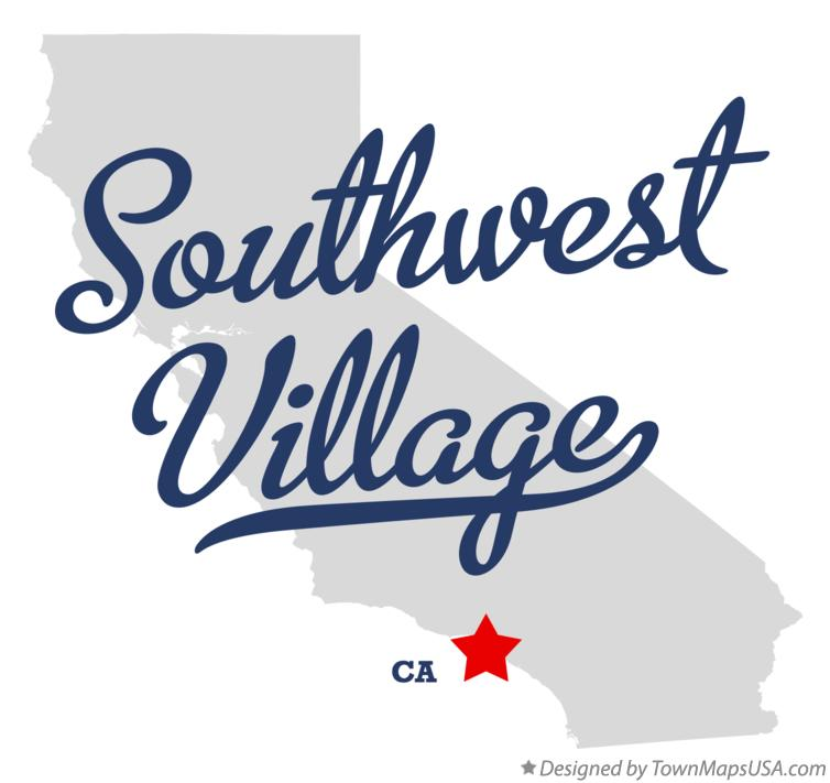 Map of Southwest Village California CA