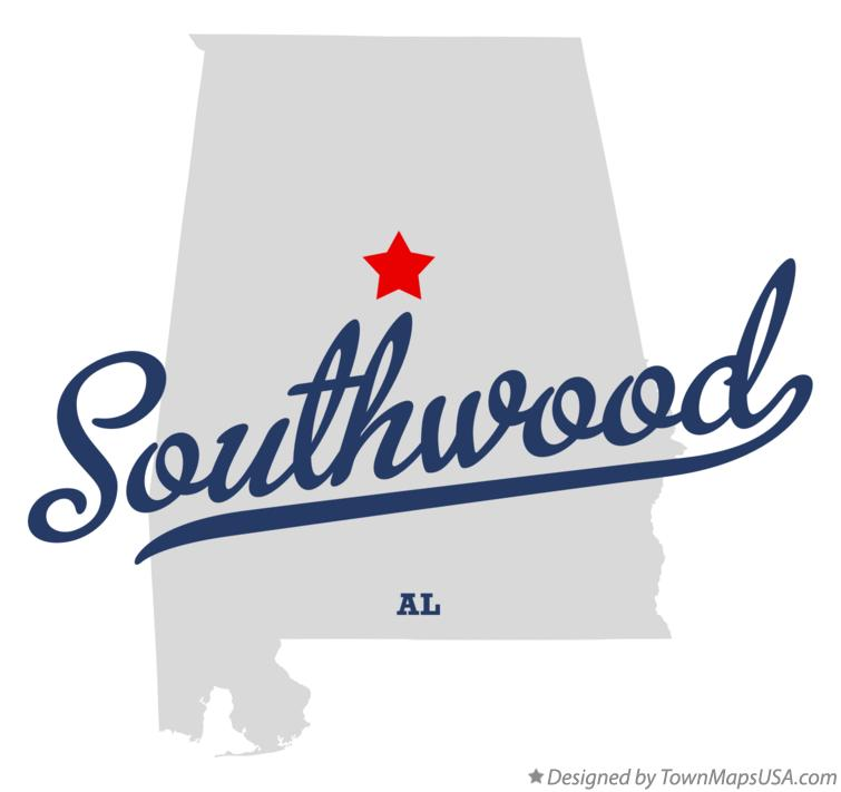 Map of Southwood Alabama AL