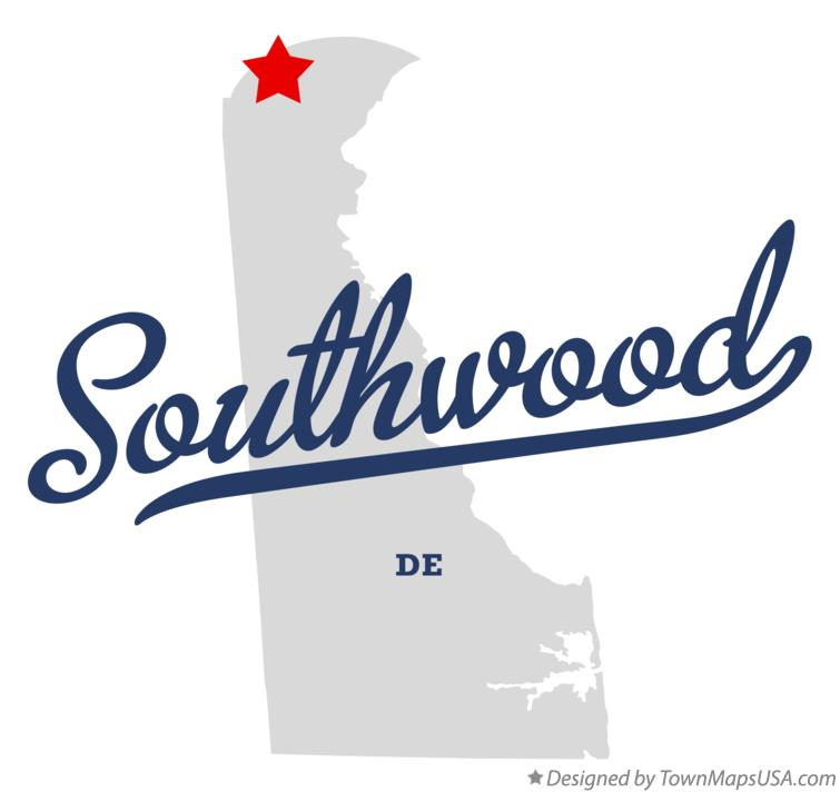Map of Southwood Delaware DE