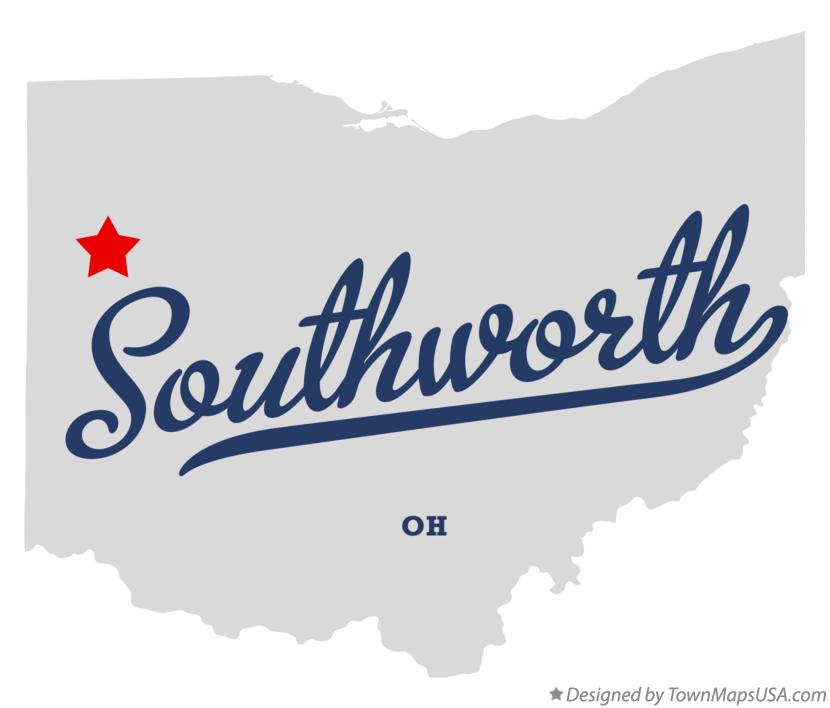 Map of Southworth Ohio OH