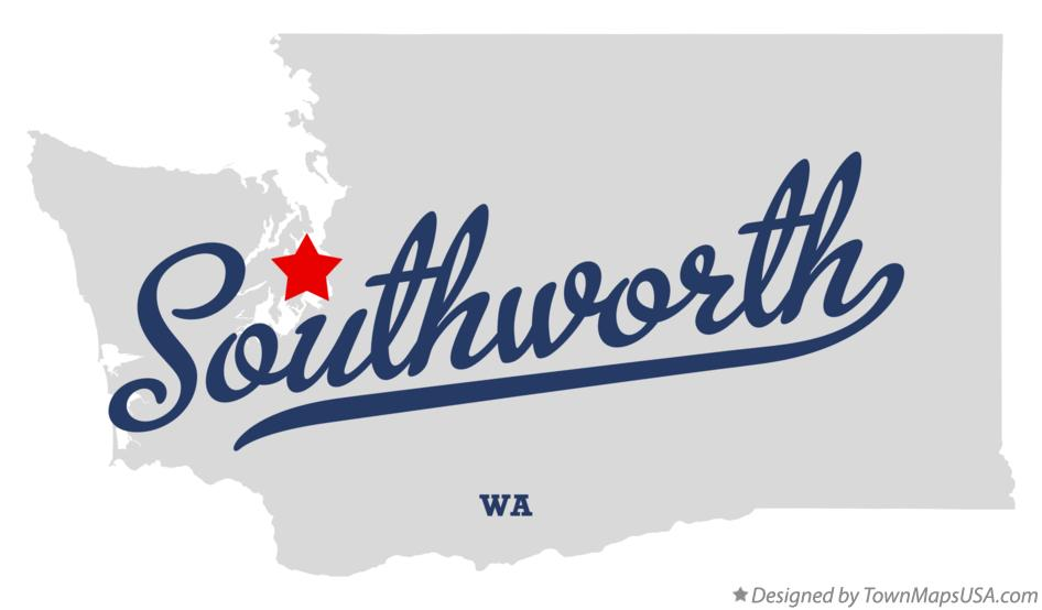 Map of Southworth Washington WA