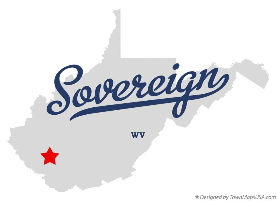 Map of Sovereign West Virginia WV