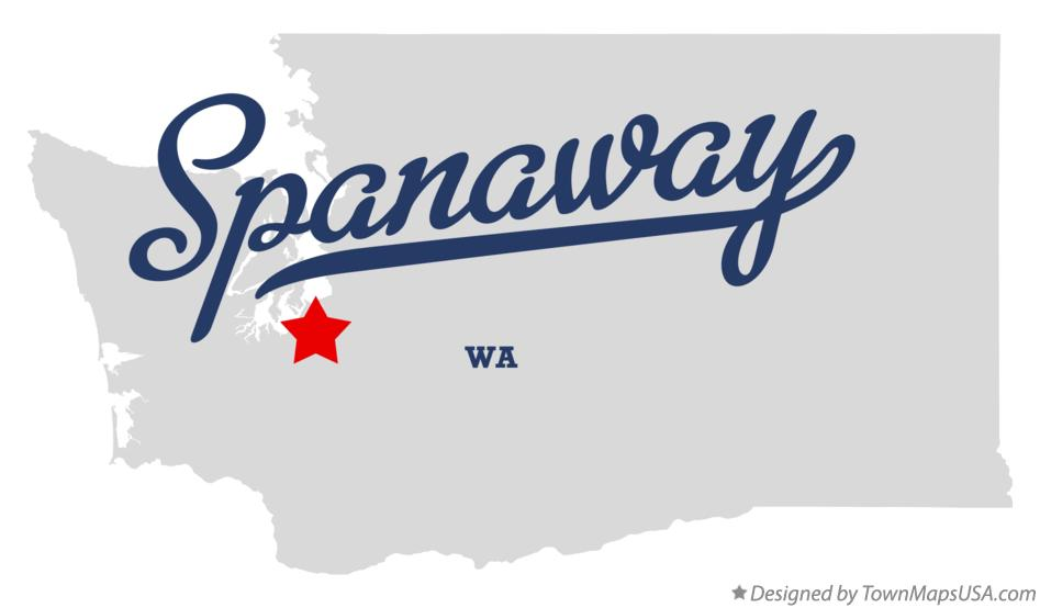 Map Of Spanaway Wa Washington