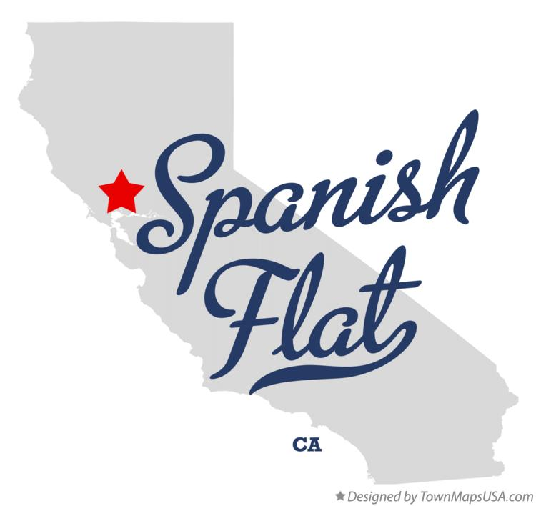 Map of Spanish Flat California CA