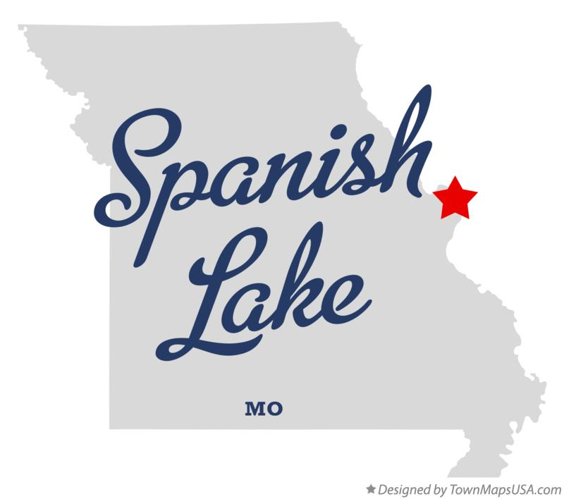 Map of Spanish Lake Missouri MO